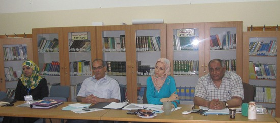 المعهد التربوي يعقد جلسة التحكيم لمشاريع المواطنة 2014م